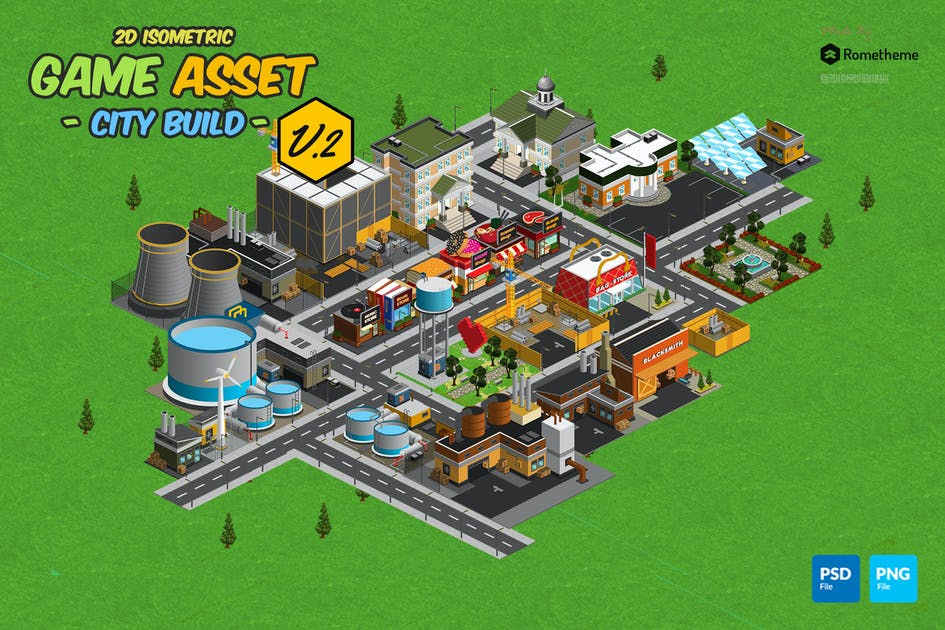 Download Isometric City Build Collection v.2 by Rometheme