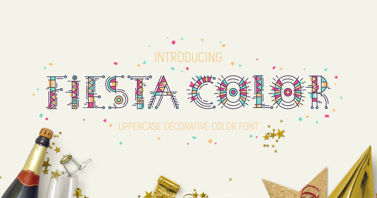 Download Fiesta Color Font by Yuzach