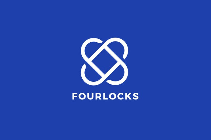 Thumbnail for Four Locks Logo Template