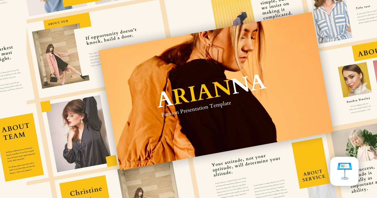 Download Arianna - Fashion Keynote Template by CocoTemplates