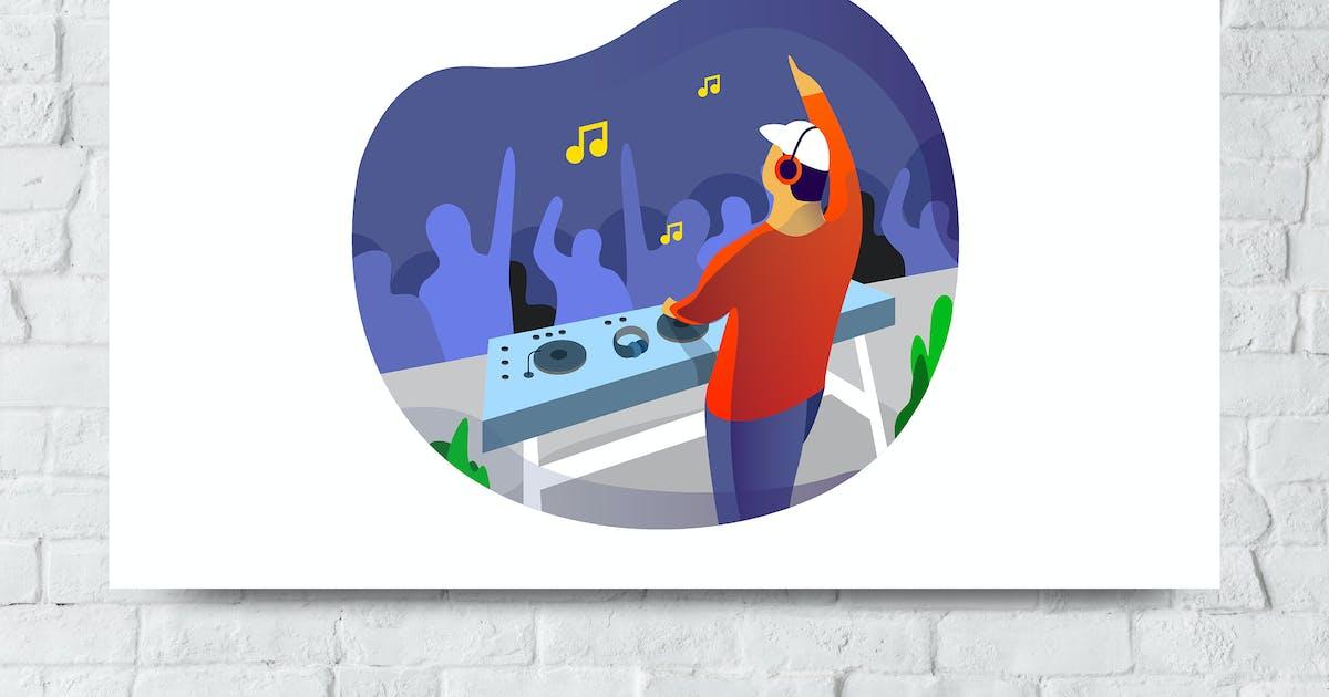 Download Disc Jockey Vector Illustration by giantdesign