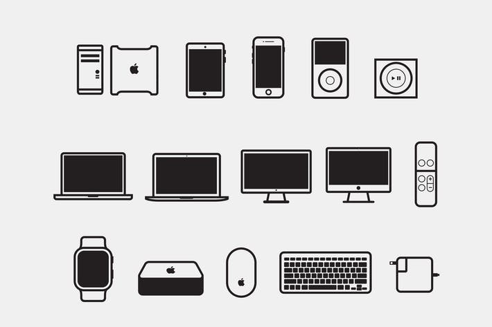 Thumbnail for 15 Apple Device Icons