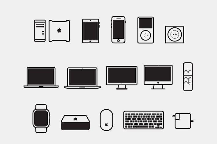 15 Apple-GeräteIcons