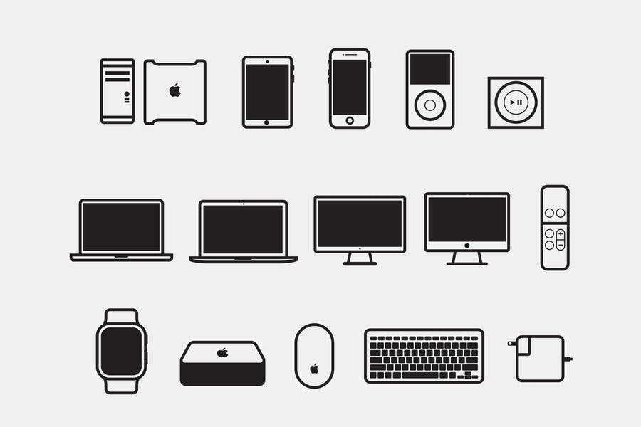 15 Apple Device Icons