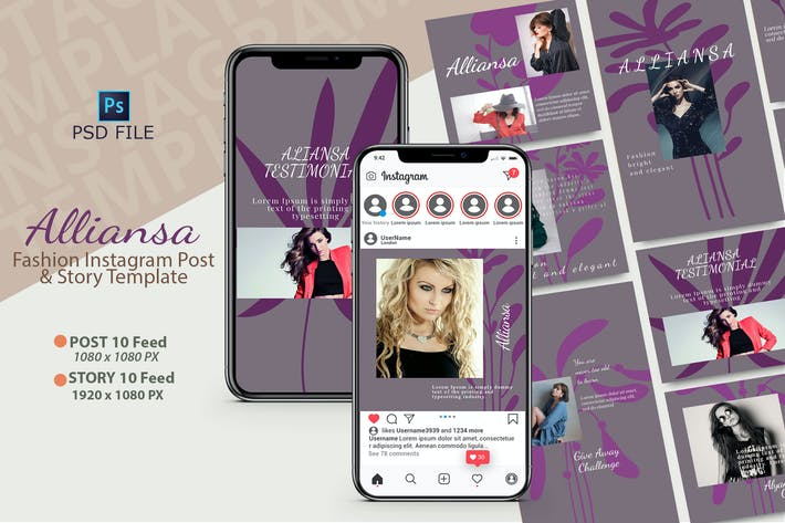 ALLIANSA INSTAGRAM TEMPLATE