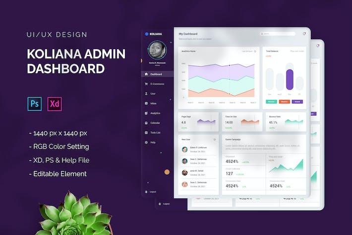 Koliana - Admin Dashboard