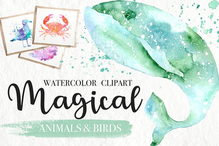 Thumbnail for Watercolor Galaxy Animals