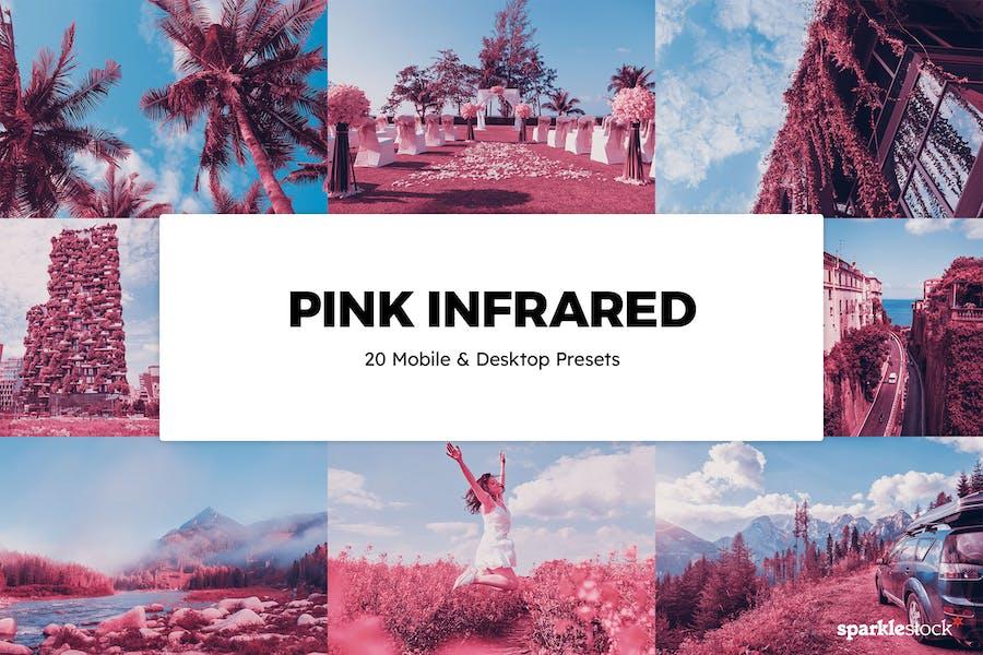 20 Pink Infrared Lightroom Presets & LUTs