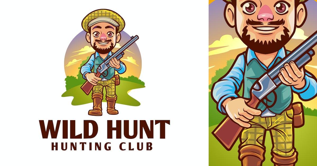 Download Cartoon Hunting Mascot Logo by Suhandi