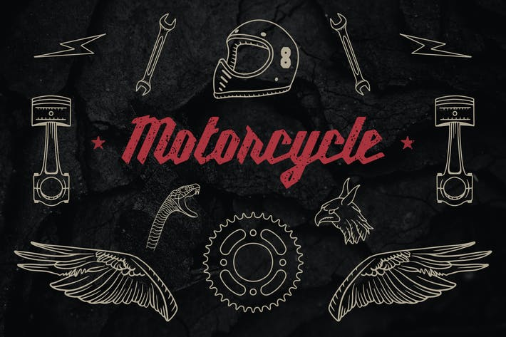 Cover Image For Vintage Motorcycle Elements