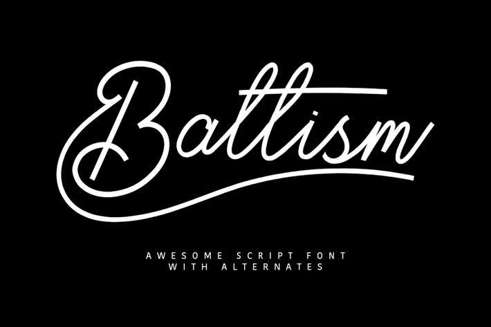 Cover Image For Baltism Typeface