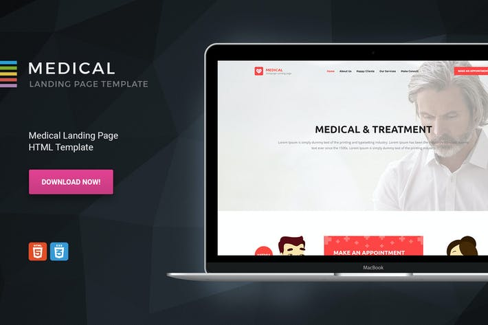 Thumbnail for Medical - HTML Landing Page