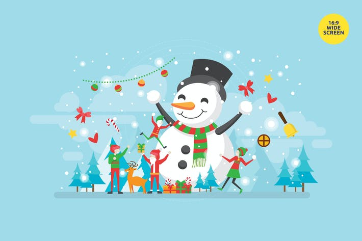 Thumbnail for Happy Christmas Moment Vector Illustration Concept