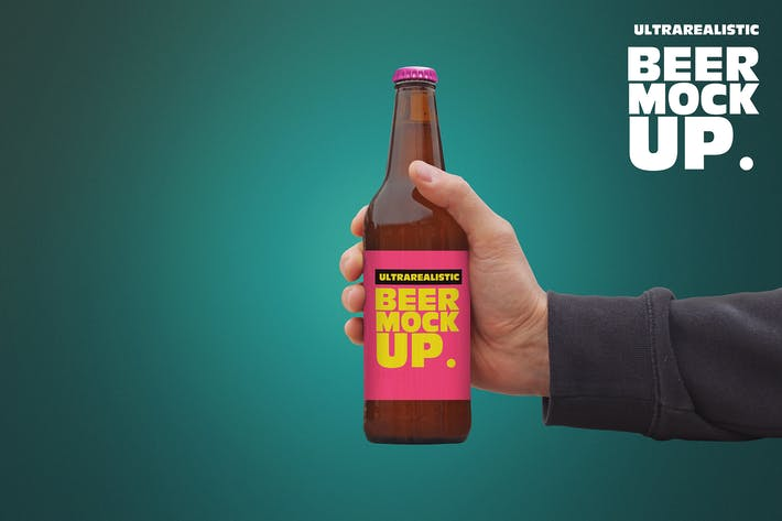 Thumbnail for Clean Hand 50cl Beer Mockup