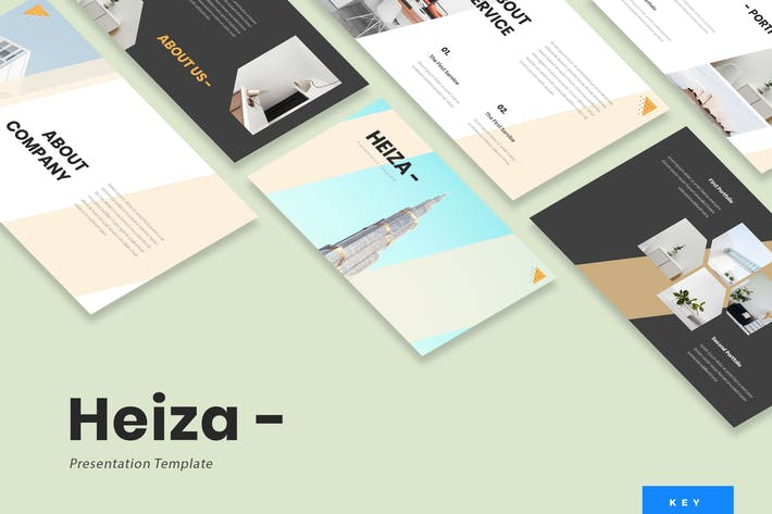 Heiza - Corporate Keynote Presentation Template