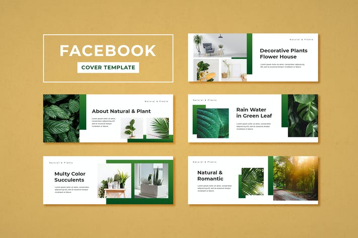 Thumbnail for Facebook Cover Template Botanical