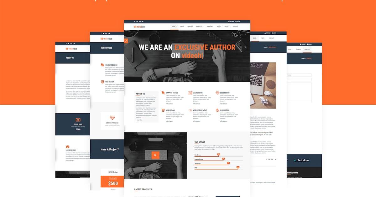 Download FolioCase | Envato Portfolio & Affiliate Template by themelooks
