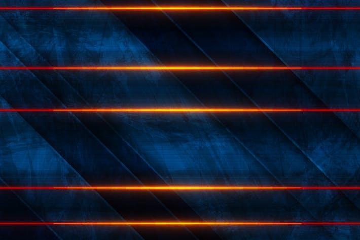 Orange neon laser lines
