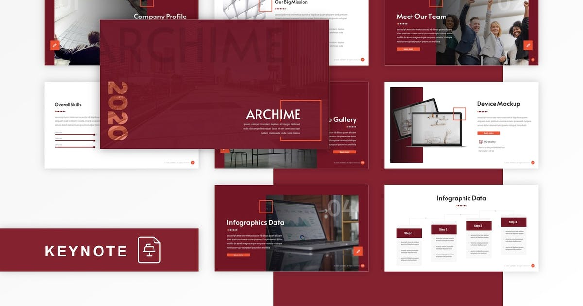 Download Archime - Multipurpose Keynote Template by CocoTemplates