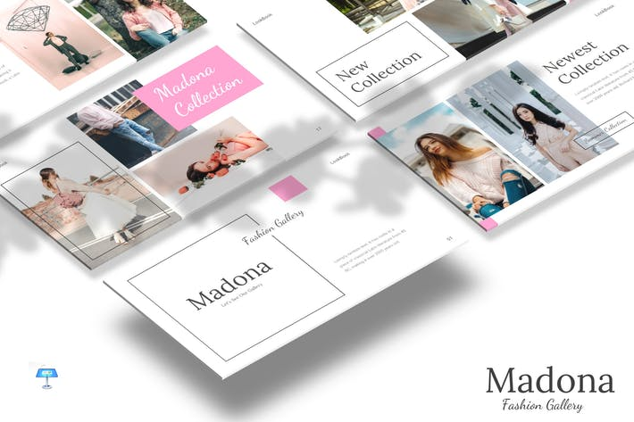 Cover Image For Madona - Keynote Template