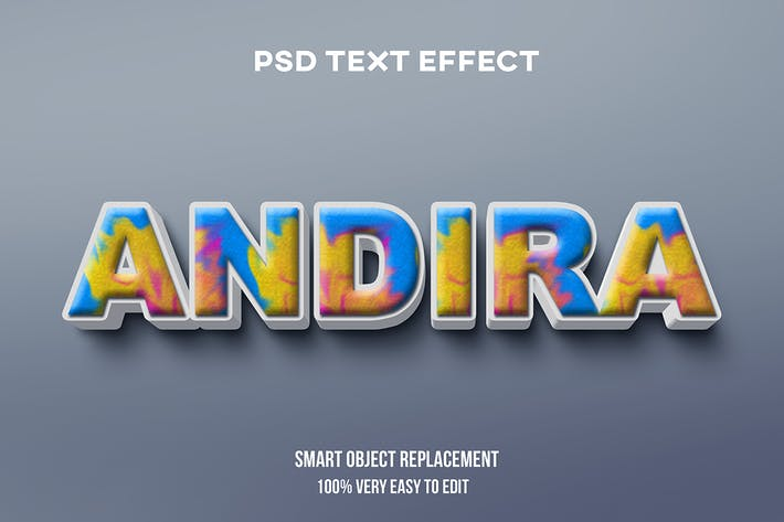 Andira text effect