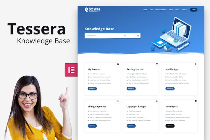Thumbnail for Tessera - Knowledge Base WordPress Theme