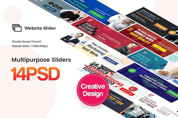 Thumbnail for Multipurpose, Business Website Sliders