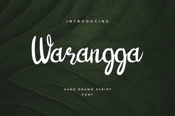 Thumbnail for Warangga Hand Letter Script Font