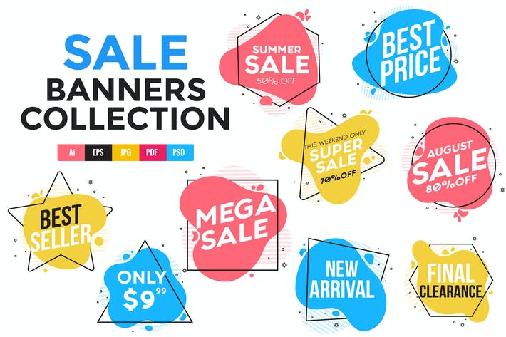 Thumbnail for Collection of Sale Discount geometric Banners