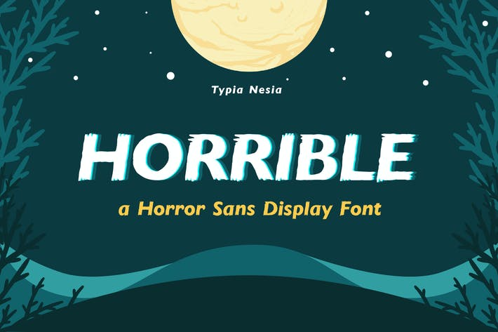 Thumbnail for Horrible - Horror Sans Font