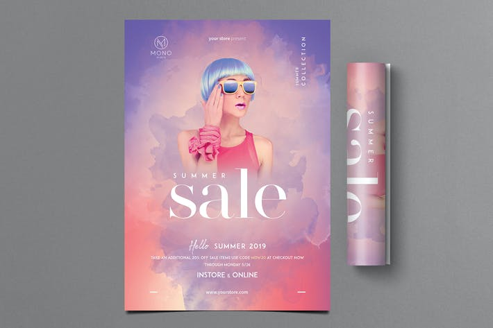 Thumbnail for Summer Fashion Sale Flyer