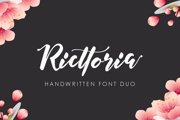 Thumbnail for Ricttoria Font Duo