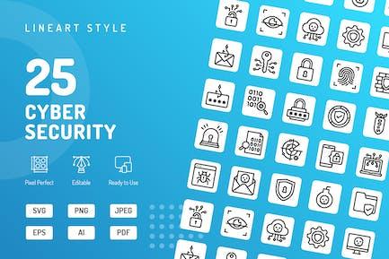 Icons für Cyber-Sicherheit