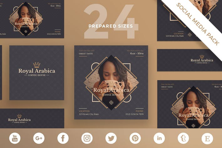Cover Image For Coffee Cafe Social Media Pack Template