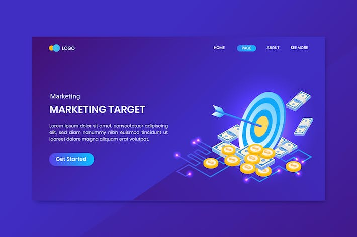 Thumbnail for Business Success  Isometric Concept Landing Page