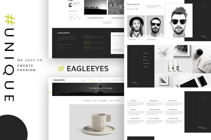 Thumbnail for EAGLEEYES - Creative multipages and One page HTML5