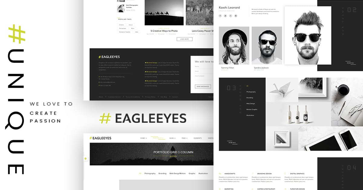 Download EAGLEEYES - Creative multipages and One page HTML5 by MarkhorThemes