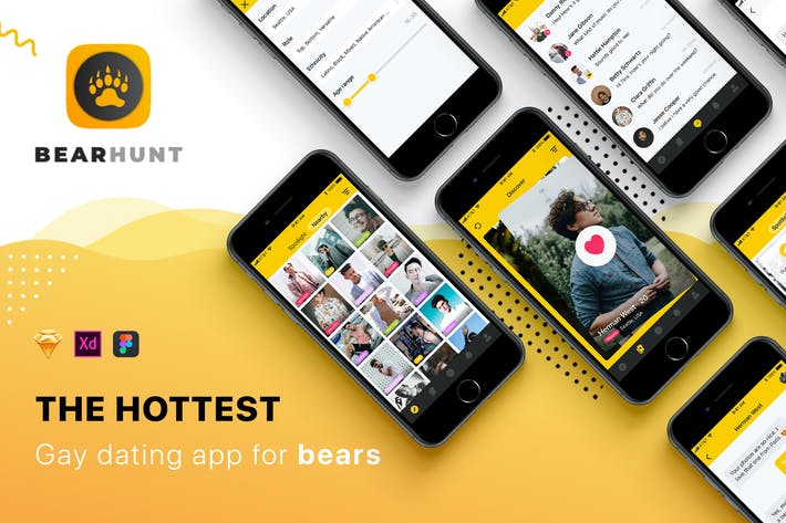 Cover Image For Gay Dating Mobile UI Kit