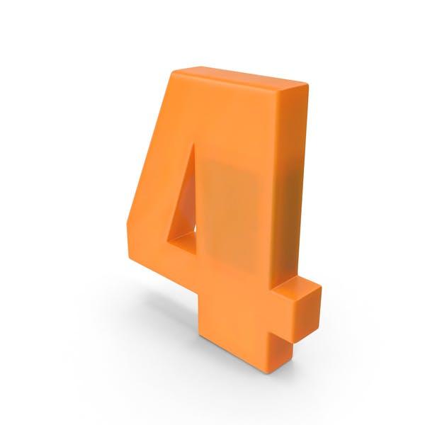 Thumbnail for Number 4 Fridge Magnet