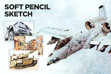 Soft Pencil Sketch CS2+ Photoshop Action