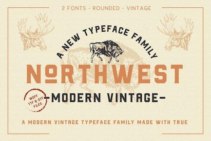 The Northwest - Modern Vintage Type Family