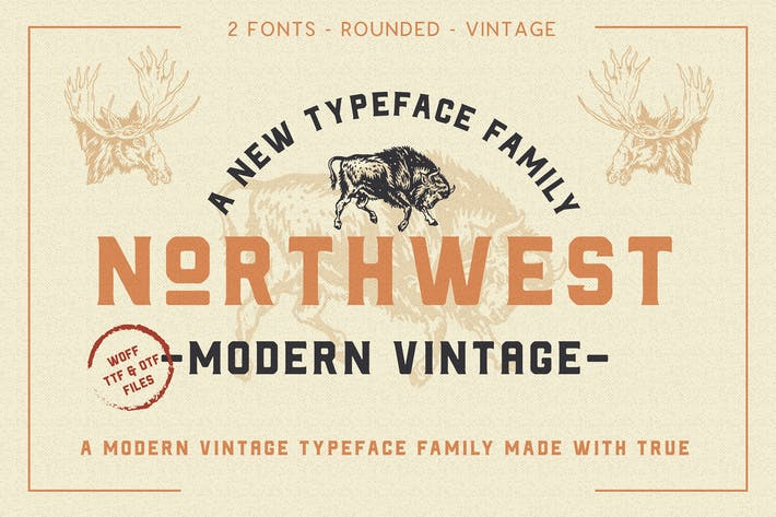 Thumbnail for The Northwest - Modern Vintage Type Family