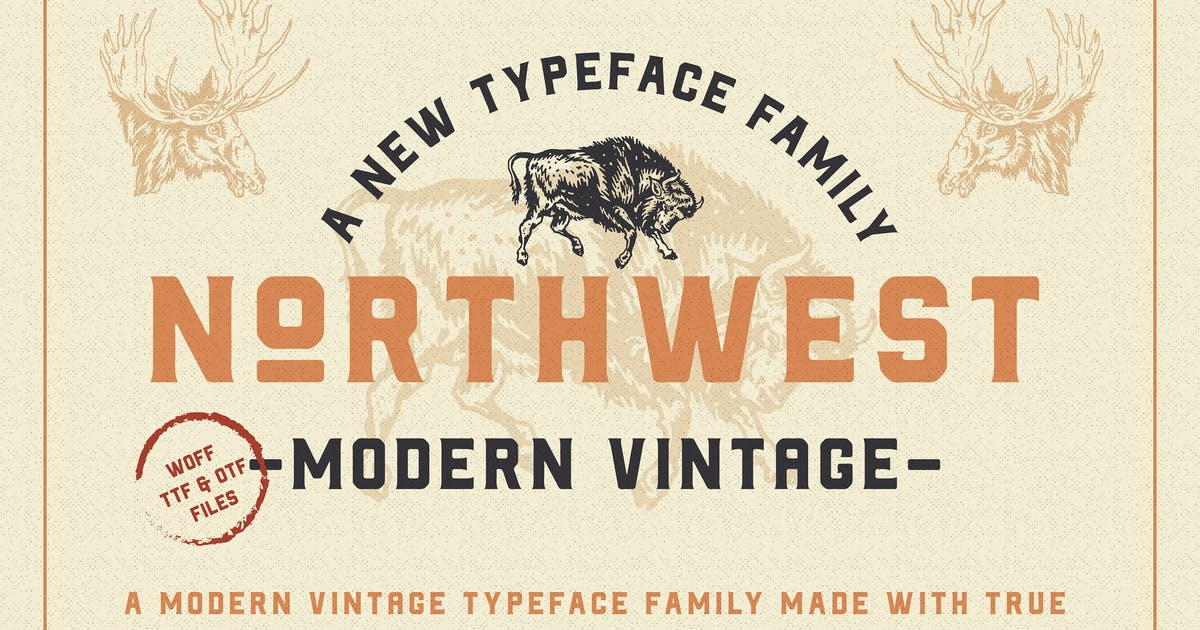 Download The Northwest - Modern Vintage Type Family by NEWFLIX