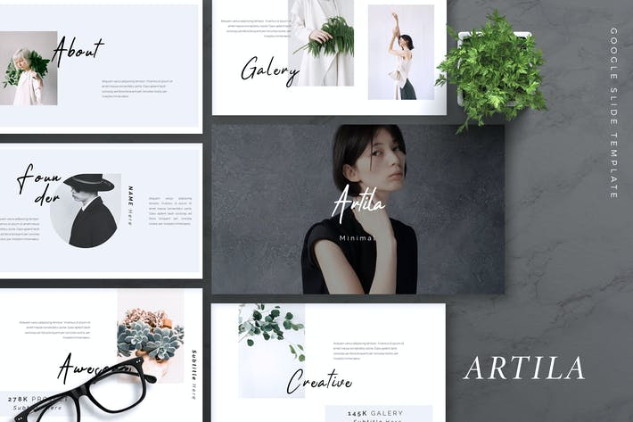 Thumbnail for ARTILA - Fashion Google Slides Template