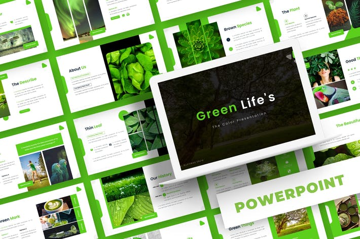 Thumbnail for Green Life - Powerpoint Template