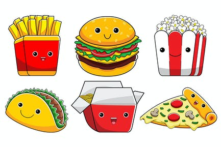 Cute Fast Food Characters