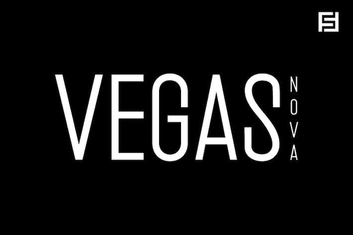 Thumbnail for Vegas Nova - Unique & Modern Display Typeface