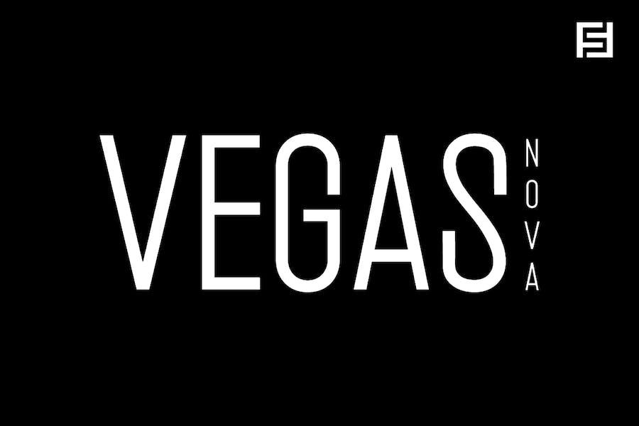 Vegas Nova - Unique & Modern Display Typeface