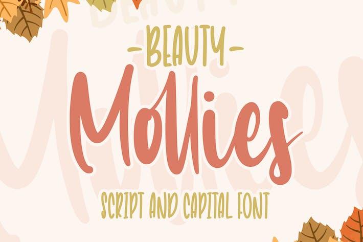 Красота Mollies | Font Duo