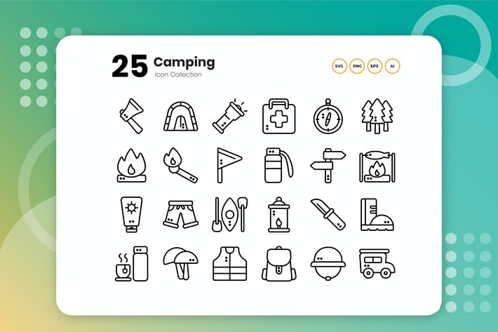 Thumbnail for 25 Camping Outline Icon